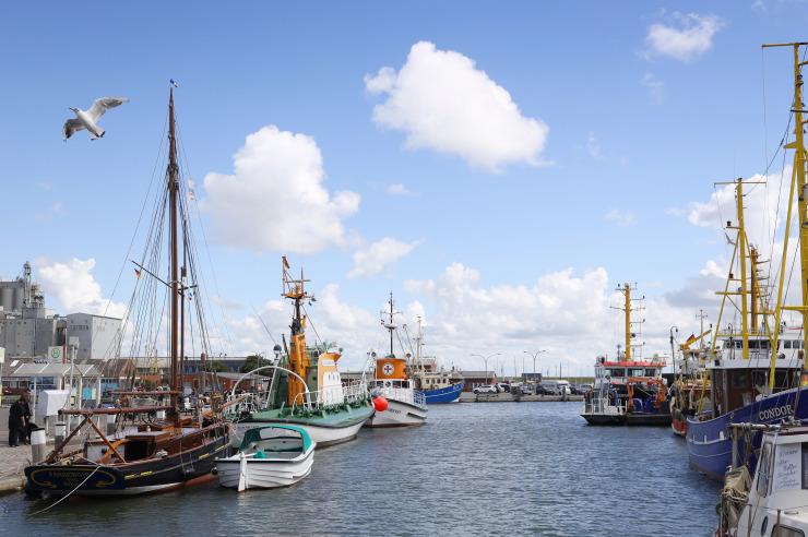 Büumer Hafen an der Nordsee
