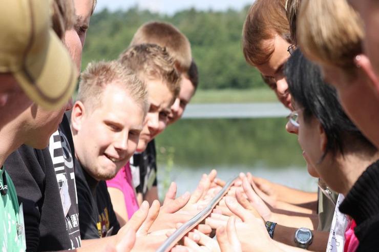 Erlebnispädagogische Teamkooperationsaktion