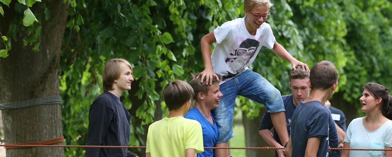 Erlebnispädagogisches Teamspiel in Kappeln