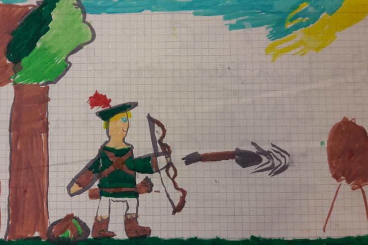 Kinderzeichnung Robin Hood Programm