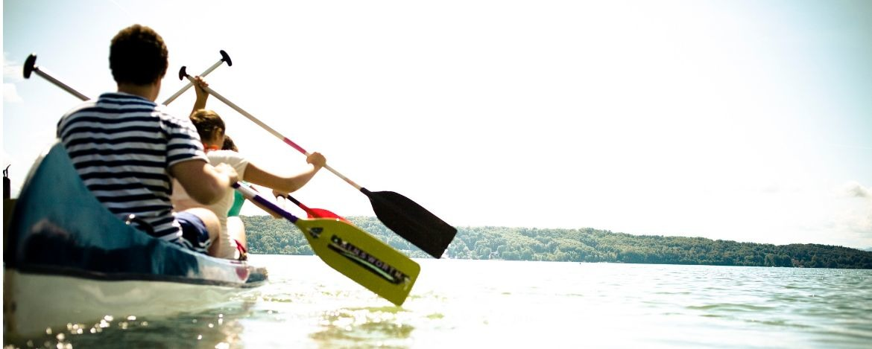 Klassenfahrt an einen See in Oberbayern