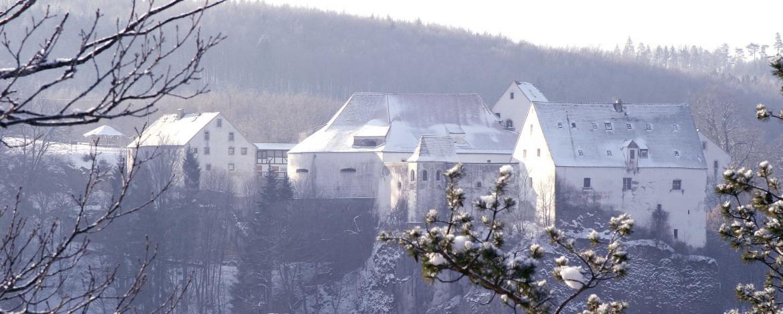 Jugendherberge Burg Wildenstein im Winter