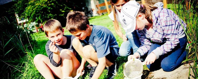 Klassenfahrt mit Naturbausteinen