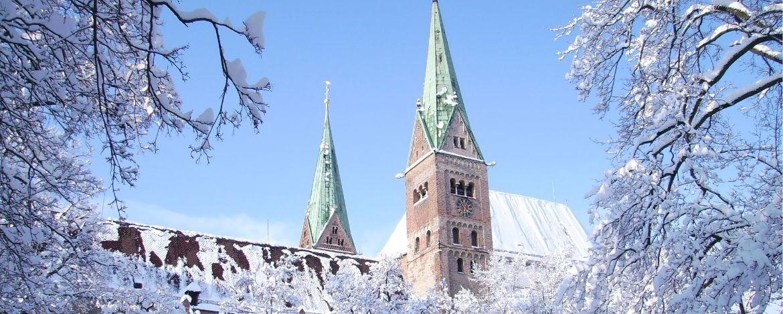 Verschneites Augsburg
