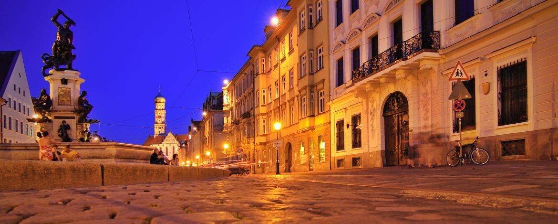 Rathausplatz in Augsburg
