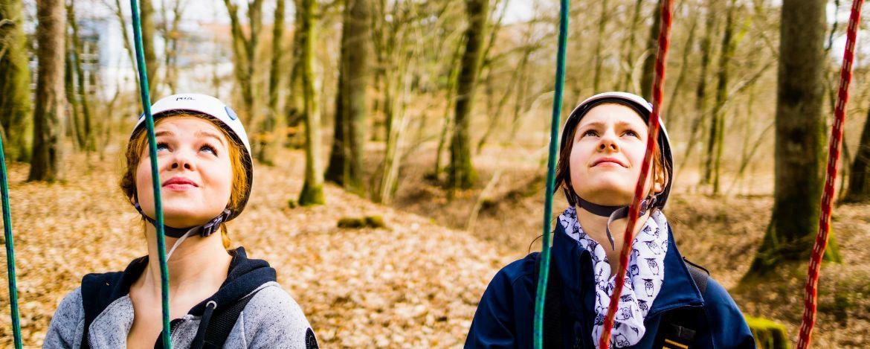 Klassenfahrt mit Klettern in der Jugendherberge