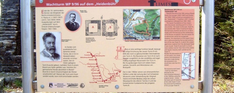 Limes: Wachtturm auf dem Heidenbühl