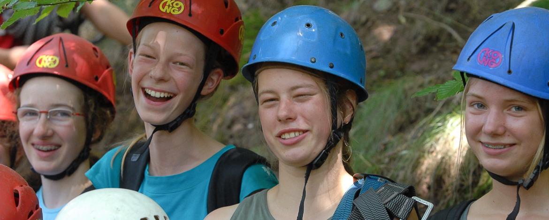Kletterparcours am Burgfels