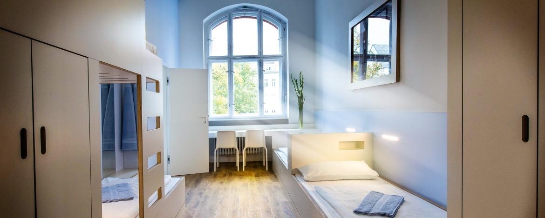 Zimmer der Jugendherberge Berlin Ostkreuz