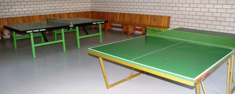 Tischtennisraum der Jugendherberge Thale