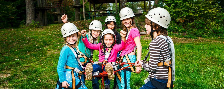 Teamtraining auf Klassenfahrt im Kletterpark