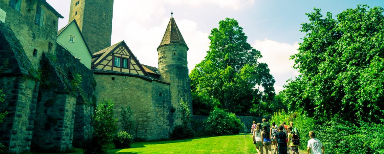 Klassenfahrt in eine Burg