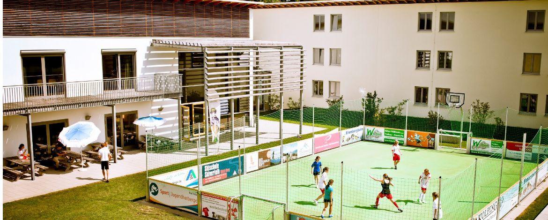 Speedsoccer Anlage in der Sport|Jugendherberge Bad Tölz