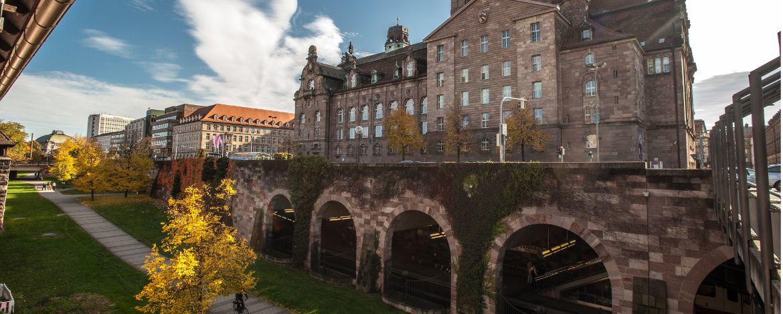 Passau - Blick auf den Zusammenfluss von Donau, Inn und Ilz