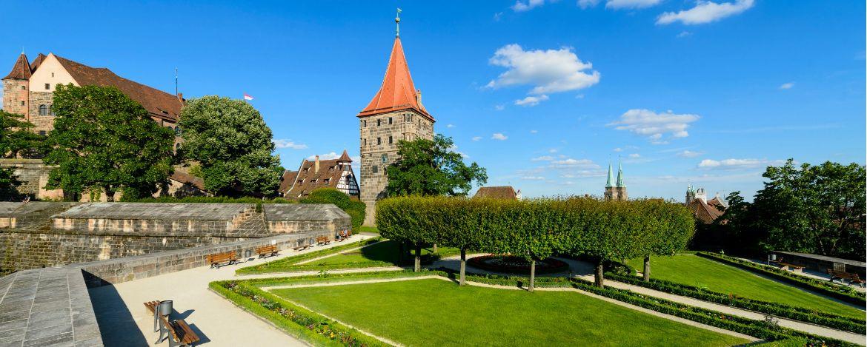 Hoch über der Nürnberger Altstadt