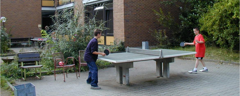 Tischtennis in der Jugendherberge Weinheim