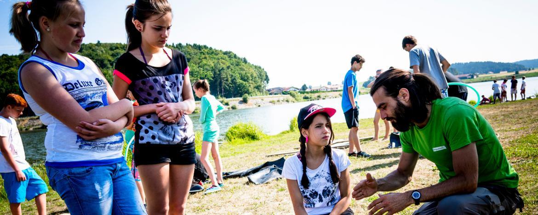 Floßbau am Drachensee
