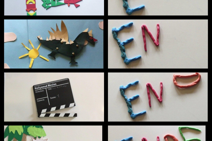 Collage Kleine Filmwerkstatt: für kleine Regisseure, kreative Köpfe und Filmemacher