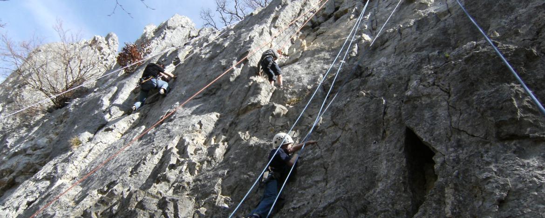 Mehrere Kletterer