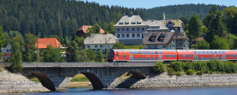 Bahnlinie am Schluchsee