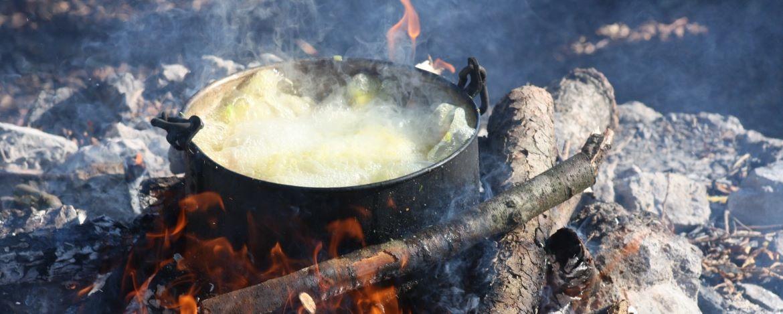 Kochende Suppe