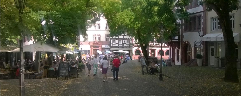 Fußgängerzone von Weinheim