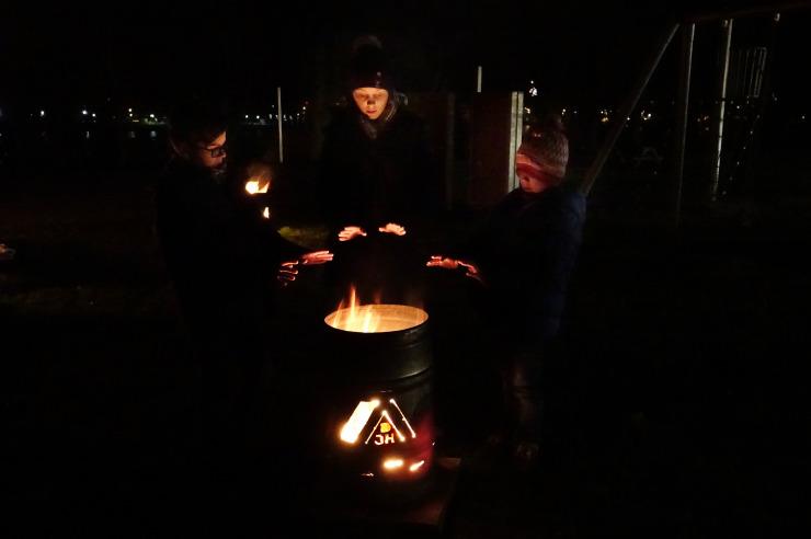 Feuertonne in Kappeln