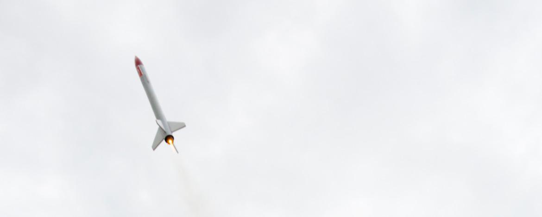 Die Rakete fliegt