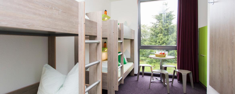 Moderne und freundliche Mehrbettzimmer in der Jugendherberge Monschau-Hargard