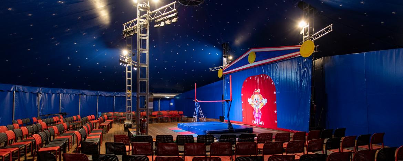Innenraum des neuen  Zirkuszelts