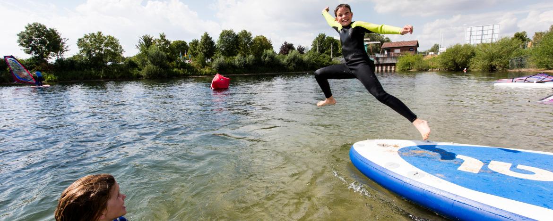 Spaß beim Wassersport