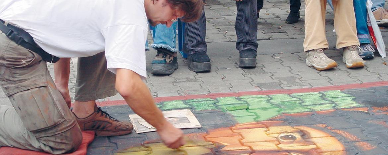Straßenkünstler in Erfurt