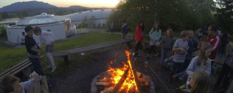 Lagerfeuerabend in der Sport|Jugendherberge Bad Tölz