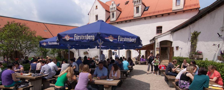 Innenhof Jugendherberge Burg Wildenstein