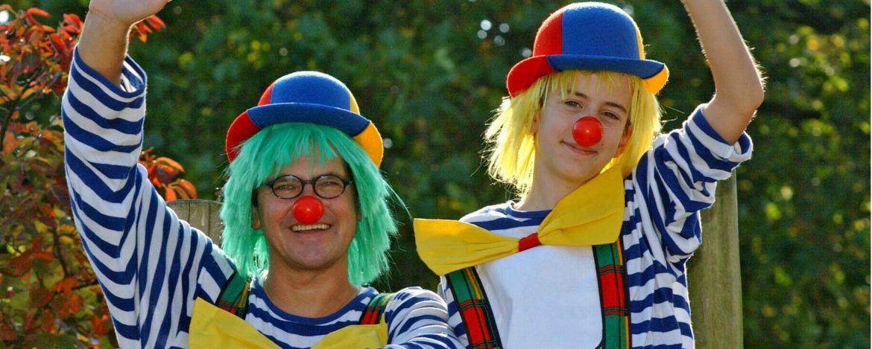 Die Clowns heißen euch Willkommen