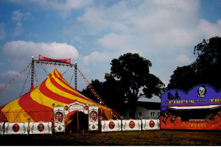 unser Zirkuszelt