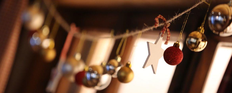 Weihnachtlich dekoriert