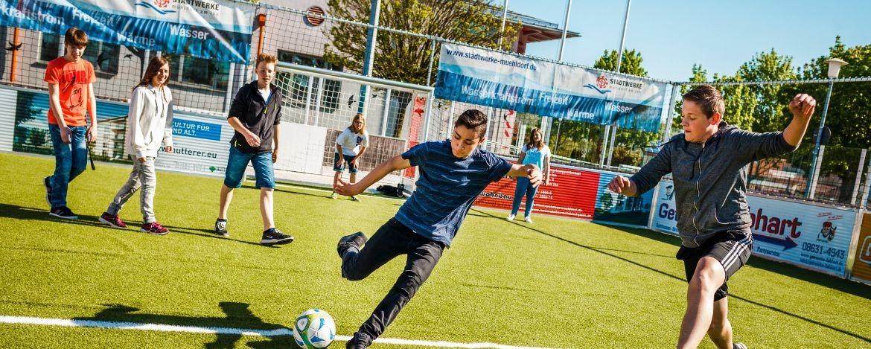 Training auf den Fußballplatz