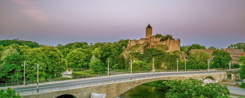 Burg Giebichenstein oberhalb der Saale