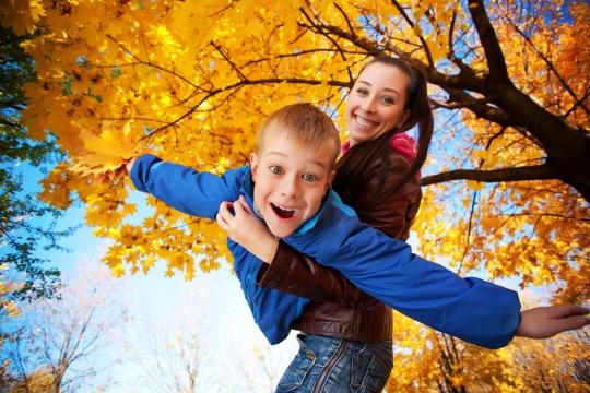 Familienfreizeit im Herbst