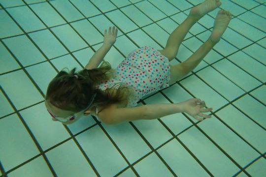Schwimmen lernen in d. Herbstferien